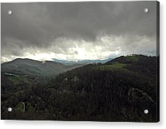 Acrylic Print featuring the photograph Dark Clouds Over Cashiers by Allen Carroll