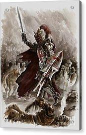 Dark Crusader Acrylic Print by Mariusz Szmerdt