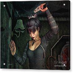 Dark Fantasies Acrylic Print by Jutta Maria Pusl