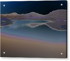 Acrylic Print featuring the photograph Dark Lake by Aurora Levins Morales