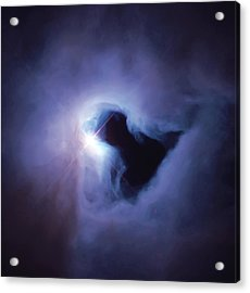 Dark Nebula Cloud  Acrylic Print by Jennifer Rondinelli Reilly - Fine Art Photography