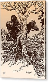 Dark Rider-tolkien Appreciation Acrylic Print by Derrick Higgins