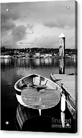 Dark Ro Acrylic Print by Alison Tomich