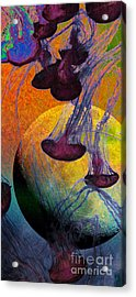 Dark Side Of The Moon 5d24939 Painterly M56 Long Acrylic Print by Wingsdomain Art and Photography