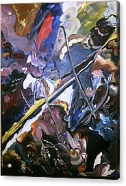 Acrylic Print featuring the painting Dark Side by Ray Khalife