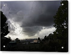 Dark Skies Gold Dome Acrylic Print