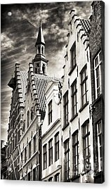 Dark Sky In Bruges Acrylic Print by John Rizzuto