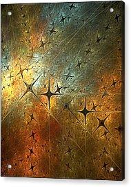 Dark Star Grid Acrylic Print