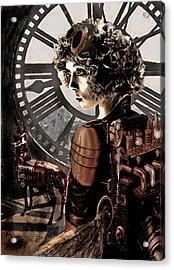 Dark Steampunk Acrylic Print by Jane Schnetlage