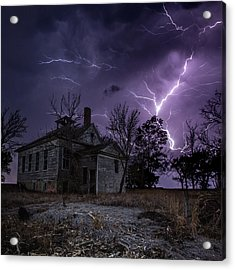 Dark Stormy Place Acrylic Print by Aaron J Groen