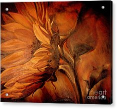 Dark Sunflower Acrylic Print