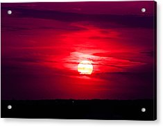 Acrylic Print featuring the photograph Dark Sunset by Julie Andel