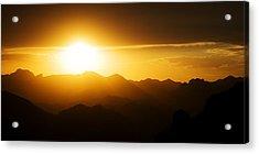 Acrylic Print featuring the photograph Dark Sunset Over The Matzatzals by Brad Brizek