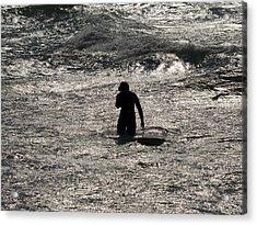 Acrylic Print featuring the photograph Dark Surf by Tara Lynn