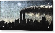 Dark Surreal Silhouette  Acrylic Print by James Kosior