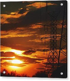 Acrylic Print featuring the photograph Darkened Sunset by Nikki McInnes
