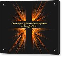 Darkest Day Brightest Light Acrylic Print by R Thomas Brass