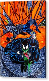 Darkhawk Issue 13 Homage Acrylic Print by Justin Moore