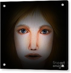Darkness   Face Art By Saribelle Rodriguez Acrylic Print