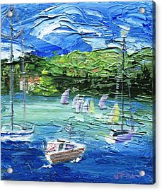 Acrylic Print featuring the painting Darling Harbor II by Jamie Frier