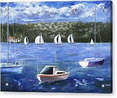 Acrylic Print featuring the painting Darling Harbor by Jamie Frier