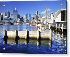 Darling Harbour Sydney Australia Acrylic Print by Colin and Linda McKie