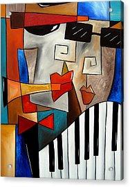 Darned Tootin - Original Cubist Art By Fidostudio Acrylic Print by Tom Fedro - Fidostudio