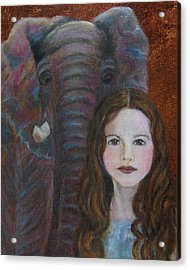 Darra  Little Angel Of                                    Feminine Wisdom And Understanding Acrylic Print by The Art With A Heart By Charlotte Phillips