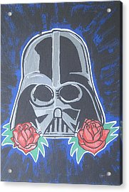 Darth Vader Tattoo Art Acrylic Print by Gary Niles