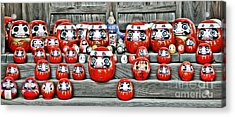 Daruma Dolls Acrylic Print by Delphimages Photo Creations