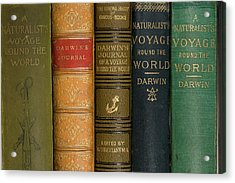 Darwin Voyages Of The Beagle Book Covers Acrylic Print