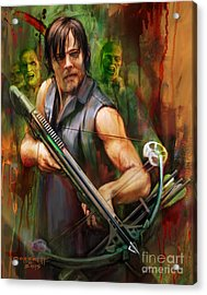 Daryl Dixon Walker Killer Acrylic Print by Rob Corsetti