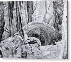 Das Monster Hat Sich Im Ungebuegelten Hintergrund Versteckt Acrylic Print
