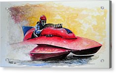 Dash And Splash Acrylic Print by William Walts