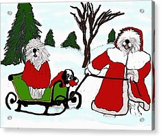 Dashing Through The Snow Acrylic Print
