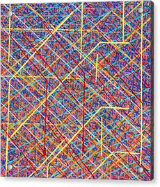 Data Structure Acrylic Print by Patrick OLeary