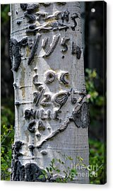 Dated Tree Acrylic Print