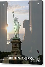 Daughter Protecting Us Acrylic Print by Angelia Hodges Clay