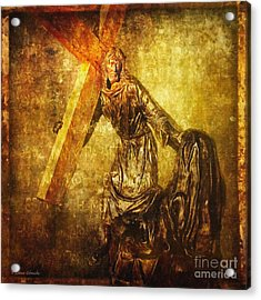 Daughters Of Jerusalem Via Dolorosa 8 Acrylic Print by Lianne Schneider