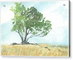 Acrylic Print featuring the painting Daughton Park Haiku - Survivor by Joel Deutsch