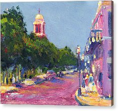 Dauphin At Cathedral Square Acrylic Print by Vernon Reinike