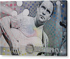 Dave Matthews All The Colors Mix Together Acrylic Print by Joshua Morton