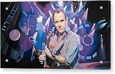 Dave Matthews And 2007 Lights Acrylic Print by Joshua Morton