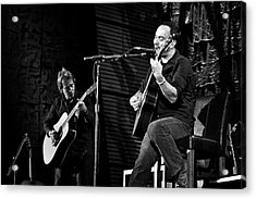 Dave Matthews And Tim Reynolds Acrylic Print by Jennifer Rondinelli Reilly - Fine Art Photography