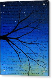 Dave Matthews Band Crush Song Lyric Art Acrylic Print