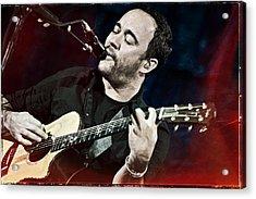 Dave Matthews Live At Farm Aid  Acrylic Print by Jennifer Rondinelli Reilly - Fine Art Photography
