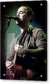 Dave Matthews Live Acrylic Print by Jennifer Rondinelli Reilly - Fine Art Photography