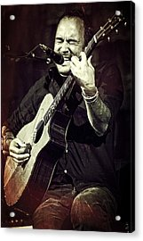 Dave Matthews On Acoustic Guitar 2 Acrylic Print by Jennifer Rondinelli Reilly - Fine Art Photography