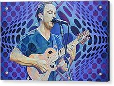 Dave Matthews Pop-op Series Acrylic Print by Joshua Morton