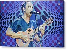 Dave Matthews-op Art Series Acrylic Print